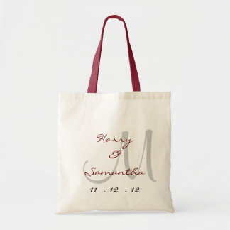 Customize your own wedding tote bag
