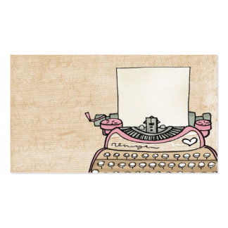 customize- your typewriter business card