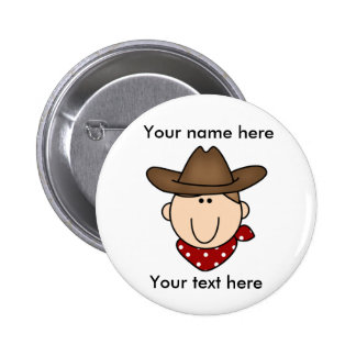 Customize Yourself Brown cowboy 6 Cm Round Badge