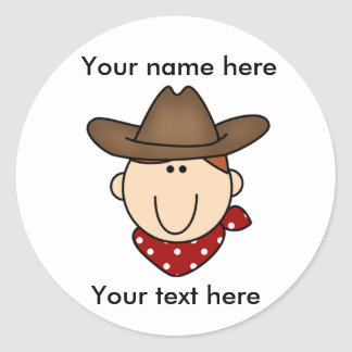 Customize Yourself Cowboy  Classic Round Sticker