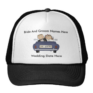 Customize Yourself Just Married Baseball Cap/Hat Cap