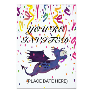 CUSTOMIZE YUPI DINO INVITATION CARDS