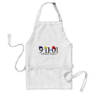 Customizeable 9-11-01 aprons