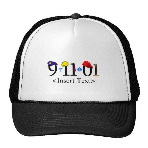 Customizeable 9-11-01 trucker hats