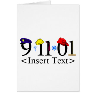 Customizeable 9-11-01 note card