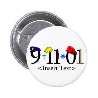 Customizeable 9-11-01 pinback buttons