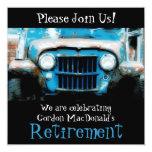 Customizeable Antique Car Retirement Party Invite 13 Cm X 13 Cm Square Invitation Card