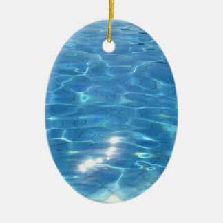 Customizeable Beach Scene Christmas Ornament
