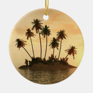 Customizeable Christmas ornament Palm trees