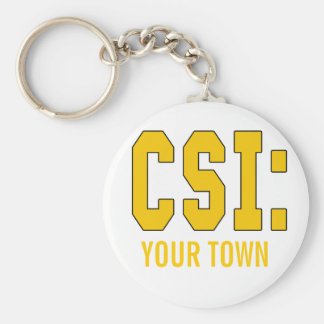 CUSTOMIZEABLE CSI Products Basic Round Button Key Ring