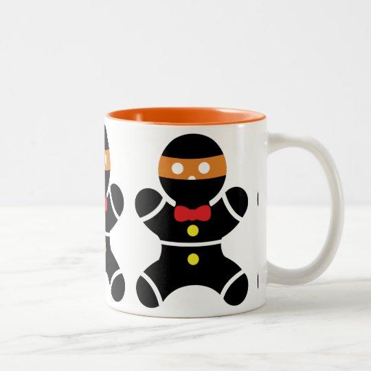 Customizeable Ginger Ninja Two Colour Two-Tone Coffee Mug