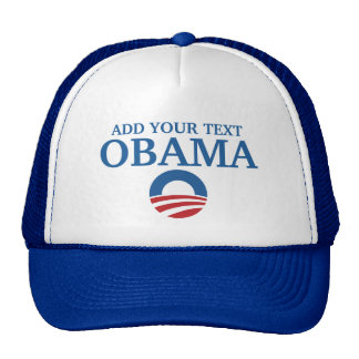customizeable support obama add your text trucker hats