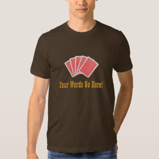 Customizeble Cards T-shirts