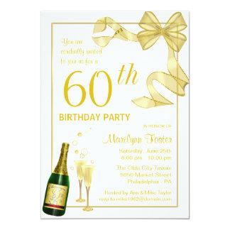 Customized 60th Birthday Party Invitations