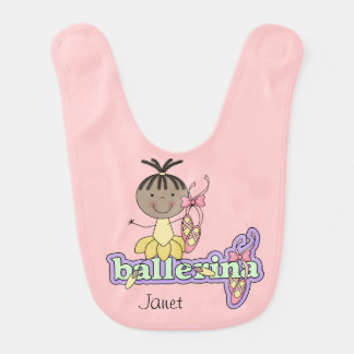 Customized African American Ballerina Bib