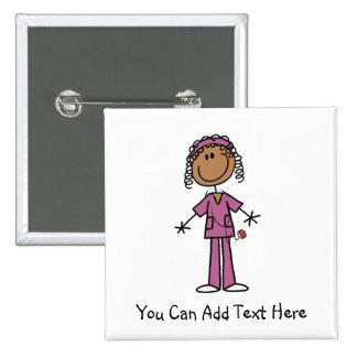 Customized African American Nurse Button