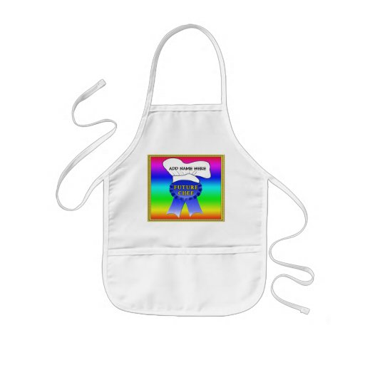 "Customized Aprons for Kids, ""Future Chef"""