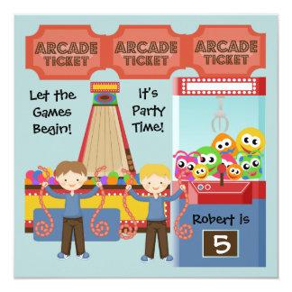 Customized Arcade Birthday Party Invitation