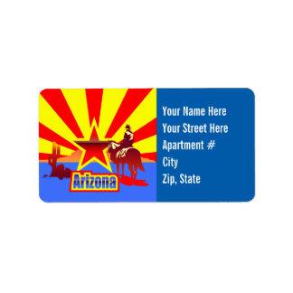 Customized Arizona State Flag Vintage Drawing Address Label