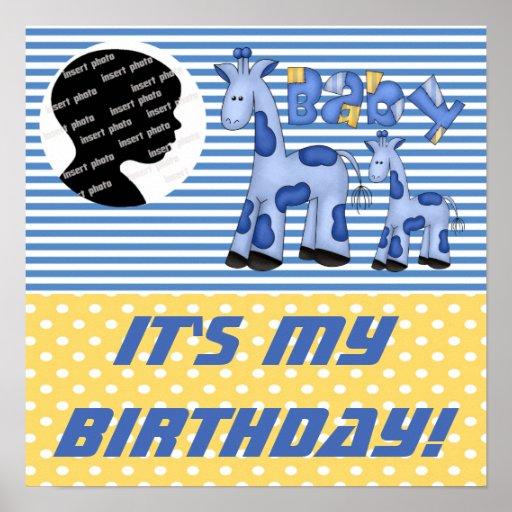 Customized Baby Boy Birthday Poster