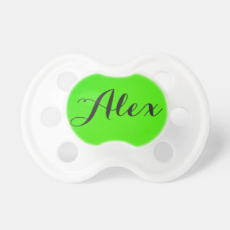 Customized Baby Infant Pacifier Neon Green Name