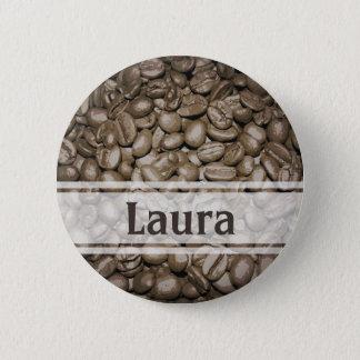 Customized barista design 6 cm round badge
