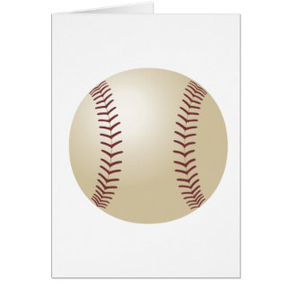 Customized Baseball Greeting Card