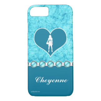 Customized Beautiful Turquoise Girl's Basketball iPhone 8/7 Case