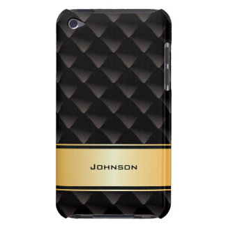 Customized Black & Golden Luxury Business Type | Barely There iPod Case