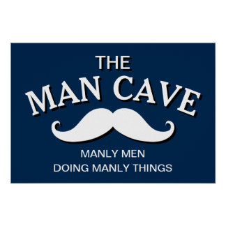 Customized Blue Funny Man Cave Sign