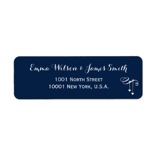 Customized Blue Personalized Address Labels