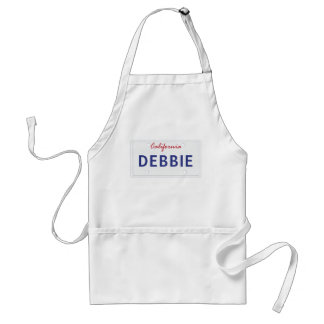 Customized California License Plate Standard Apron
