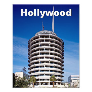 Customized Capitol Records Hollywood Photo Print