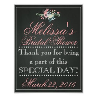 Customized Chalk Bridal Shower Sign, Bridal Poster