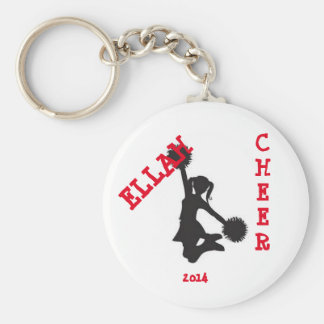 Customized cheer button key ring