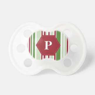 Customized Christmas Stripe Pattern BooginHead Pacifier