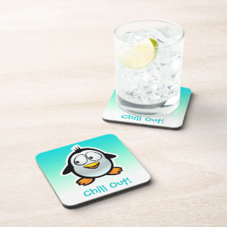 Customized Cool Penguin Cartoon Coaster