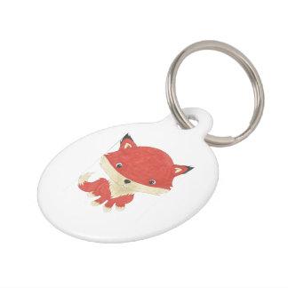 Customized Cute Baby Fox Pet Tag