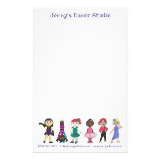 Customized Dance Studio School Teacher Ballet Tap Stationery
