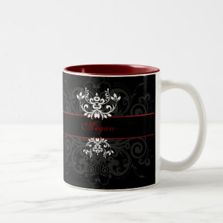 Customized Dark Elegance Two-Tone Coffee Mug