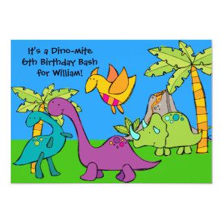 Customized Dino-mite Birthday Bash Invitations