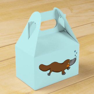customized duck billed platypus favour box