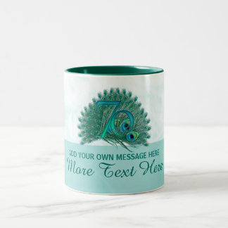 Customized elegant 70th birthday 70 text mug