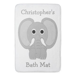 Customized Elephant White Bath Mat