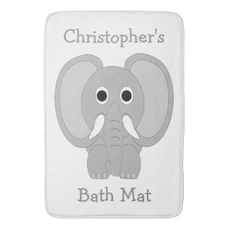 Customized Elephant White Bath Mats