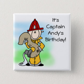 Customized Firefighter 3rd Birthday Button