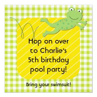 Customized Frog Birthday Invites