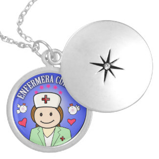 Customized gifts for nurses: Take care of to me Round Locket Necklace