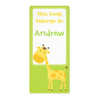 Customized*Giraffe Bookmarks Book Rack Card
