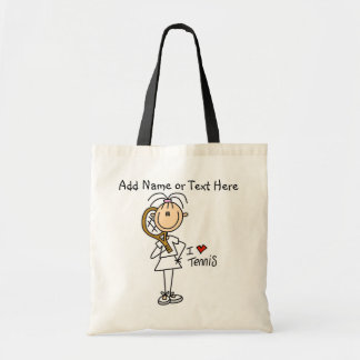 Customized Girl I Love Tennis  Tote  Bag